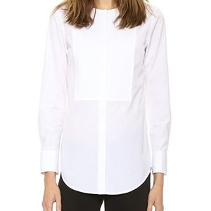 Theory NYLE Santorial White Cotton Blouse Large